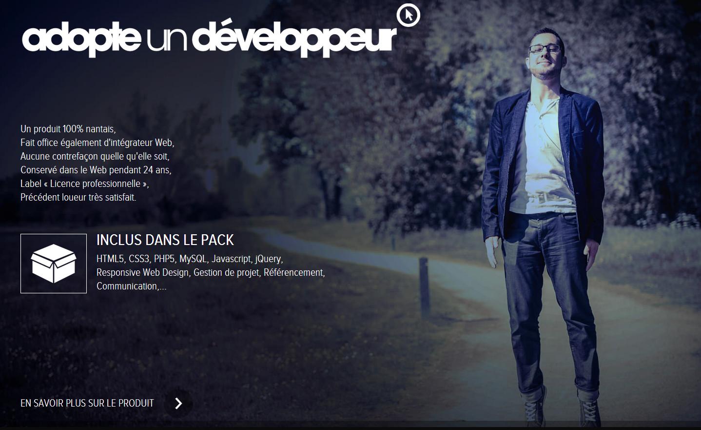 adopteundeveloppeur.com présente Loïc ROSY   intégrateur et développeur Web sur Nantes