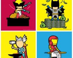 Quel job pour les super-héros